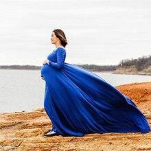 綿妊娠中のドレスマキシマタニティ写真撮影の服2019マタニティ妊娠ドレスの写真撮影の小道具
