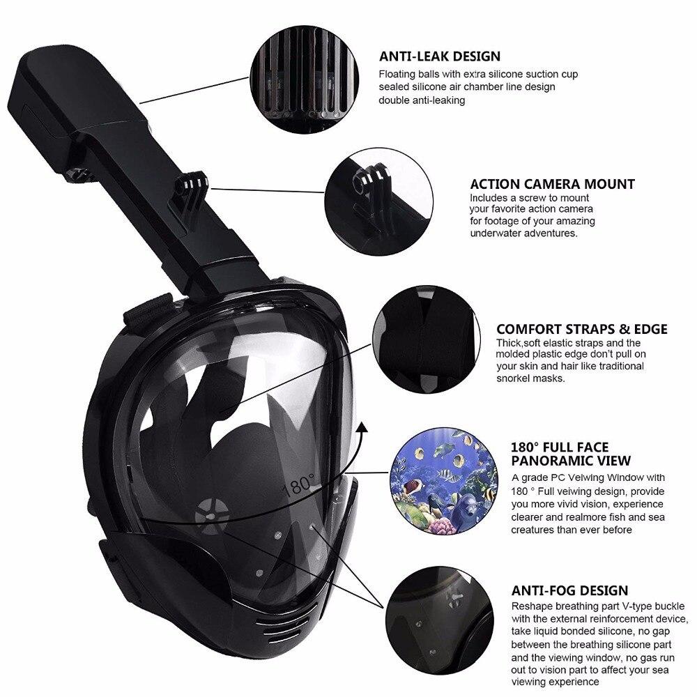 Undervattensdykning Mask Scuba Anti Fog Full Face Diving Mask - Vattensporter - Foto 4
