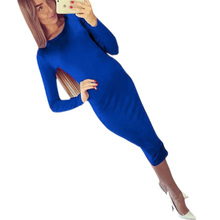 Slim Bodycon Bandage Dress Long Sleeve Knee Length Midi Dresses Autumn High Quality Women Dresses Bandage Vestidos Female Q0001