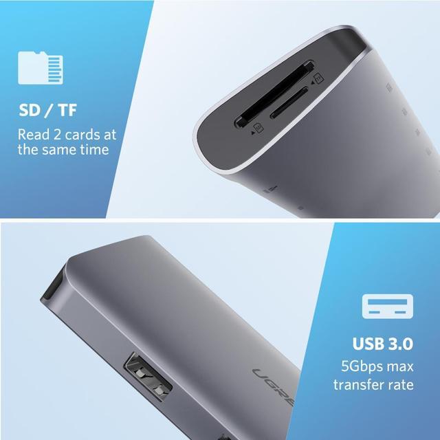 8 Ports Universal USB-C Hubs