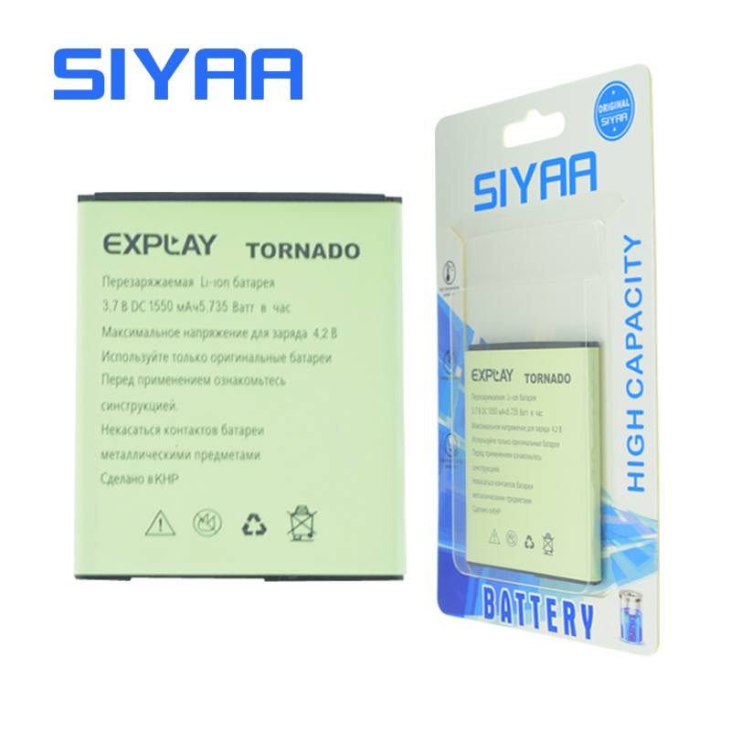 Original SIYAA Explay Battery For Explay Tornado Battery Replacement Batteries Original Battery High Capacity 1550mAh
