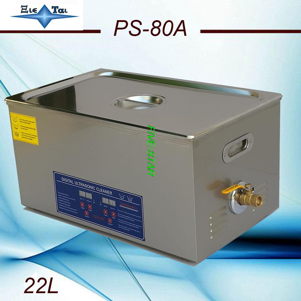 AC110V/220V 40KHz 600W PS-80A Digital Ultrasonic Cleaner 22L tank thickness 1.8MM electronic components free basket