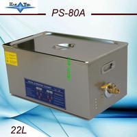 Free shipping EU RU AC110V/220V 40KHz 600W PS 80A Digital Ultrasonic Cleaner 22L 2.00MM electronic components free basket