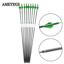 6/12pcs Archery 400 Spine Carbon Arrows 31inch Pure Material Shooting Training Arrow Hunting Bow And Accessories