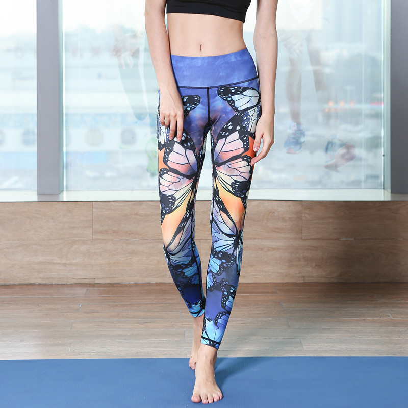 Yoga Pants Ladies New Sport Running Gym Tights for Female Fitness Leggings Quick Drying Trousers Elastic