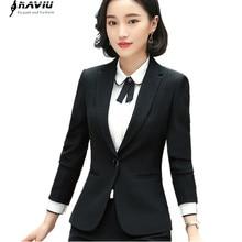 Business Blazer Women Fashion Clothes New Spring Temperament Formal Long Sleeve Slim Jacket Office Lady Interview Work Wear