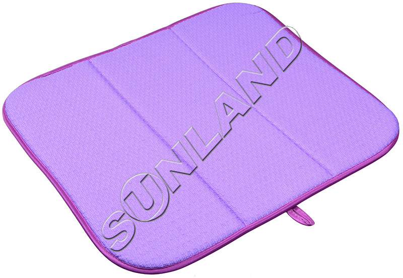 Sinland High Quality 16inch x 18inches Waffle Weave Dish Drying Mat For Kitchen Microfiber Cushion Pad