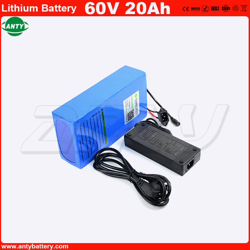 60v 20Ah Battery High Power 2200w Lithum Battery Pack 60v with 2A Charger Built in 50A BMS E-Bike Battery 60v Free Shipping free customs taxes super power 1000w 48v li ion battery pack with 30a bms 48v 15ah lithium battery pack for panasonic cell