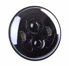 Free shipping Pair Black 7 inch LED Headlights Replacement For Jeeps Wrangler JK 2 Door 4 Door LandRover Defender Head Light
