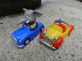 "Noddy originais carro de corrida 3 ""carro plástico carro do noddy & mr jumbo 2 toy cars novo solto"