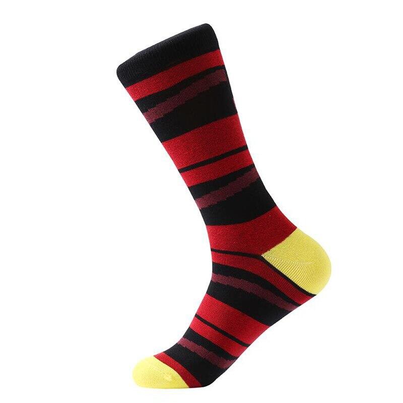 MYORED 5 pair/lot mens dress socks colorful funny socks soft breathable men cotton socks for men gifts socks