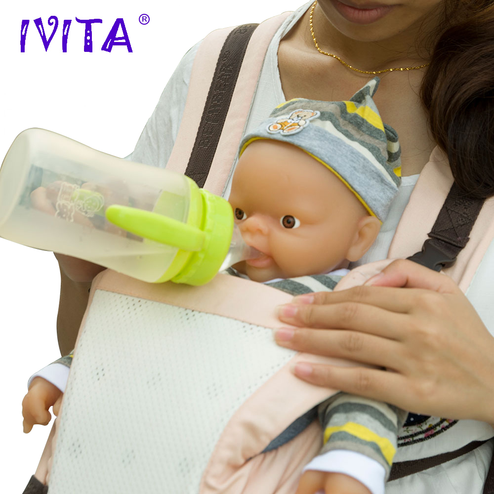 IVITA 18/'/' Reborn BOY Dolls Realistic Green Eyes Reborn Baby Can Take a Pacifier