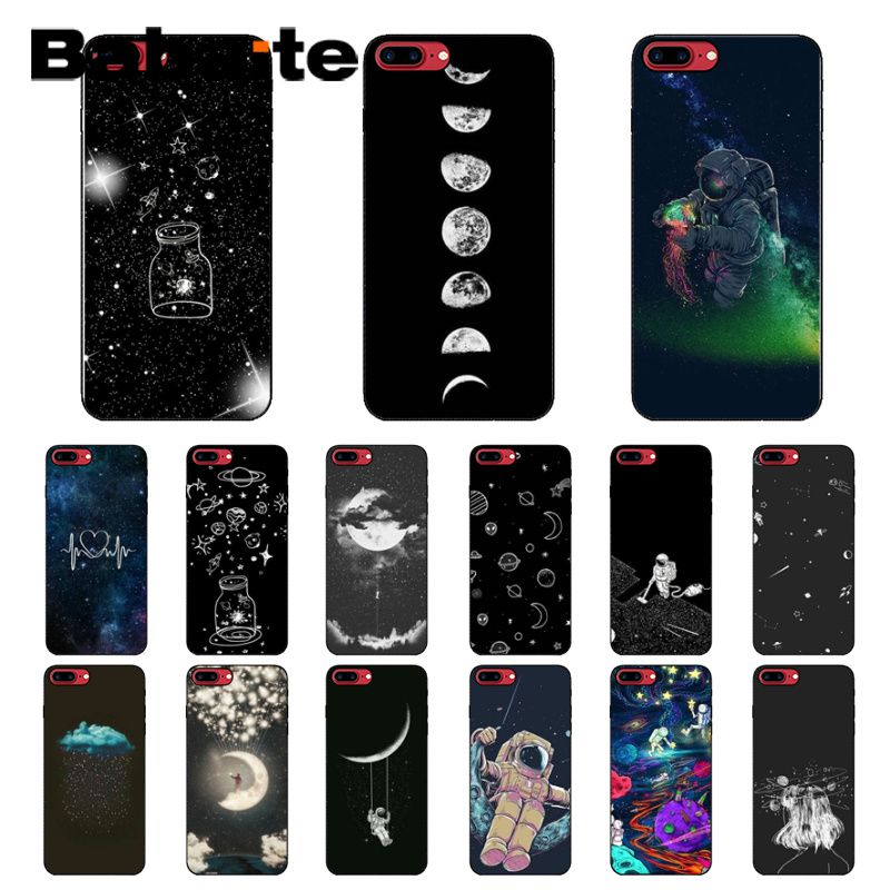 Cellphones & Telecommunications Self-Conscious Babaite Sky Space Planet Black And White Sun Moon Stars Tpu Soft Black Phone Case For Iphone 5 5sx 6 7 7plus 8 8plus X Xs Max Xr Possessing Chinese Flavors
