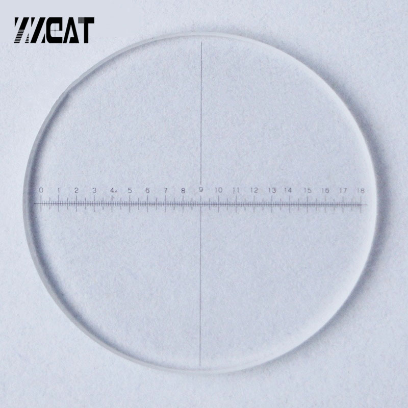 923 Optical Glass Calibration Slides DIV 0.1mm Eyepiece Reticle Micrometer Area Measuring Ruler Ocular Graticule For Microscope