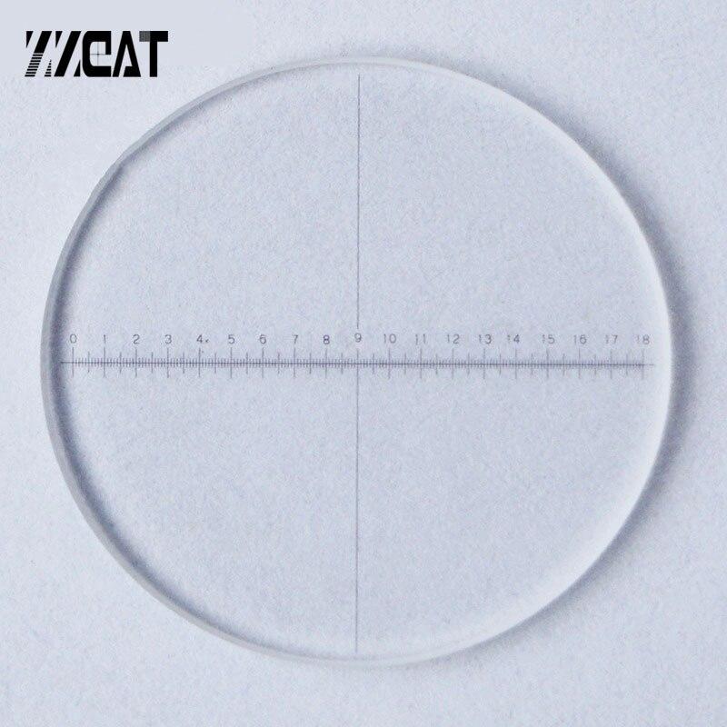 923 Optique Verre D'étalonnage Diapositives DIV 0.1mm Oculaire Réticule Micromètre Zone De Mesure Règle Oculaire Réticule pour Microscope