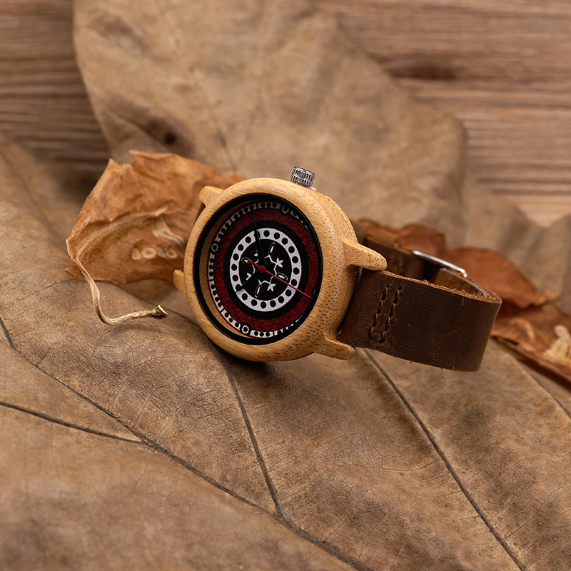 Image 4 - BOBO BIRD J19 Bamboo Wooden Watch Women Genuine Leather Band Watch With Japanese Miyota Movementwatch withwatch womenwatch woman genuine leather -