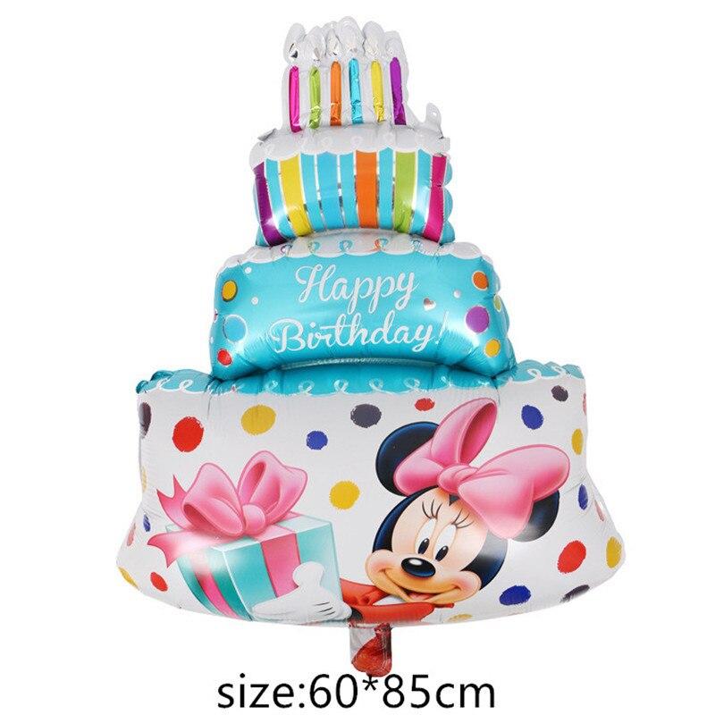 Гигантский мультяшный милый мышонок мультяшный воздушный шар из фольги воздушный шар детский день рождения украшения Классические игрушки подарок мультяшная шляпа - Цвет: 3