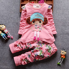 fall baby girl outfit tops t-shirts +Bib suit infant clothing sets for newborn babies 1st birthday cloth baby girls clothes sets