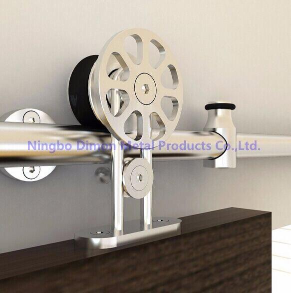 Envío Gratis Dimon hot sell alta calidad SUS304 puerta deslizante hardware DM-SDS 7104 sin carril deslizante