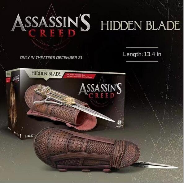NEW hot 28*14*9cm Assassin's Creed chainattacker hidden blade collectors action figure toys Christmas gift doll new hot 17cm avengers thor action figure toys collection christmas gift doll with box j h a c g