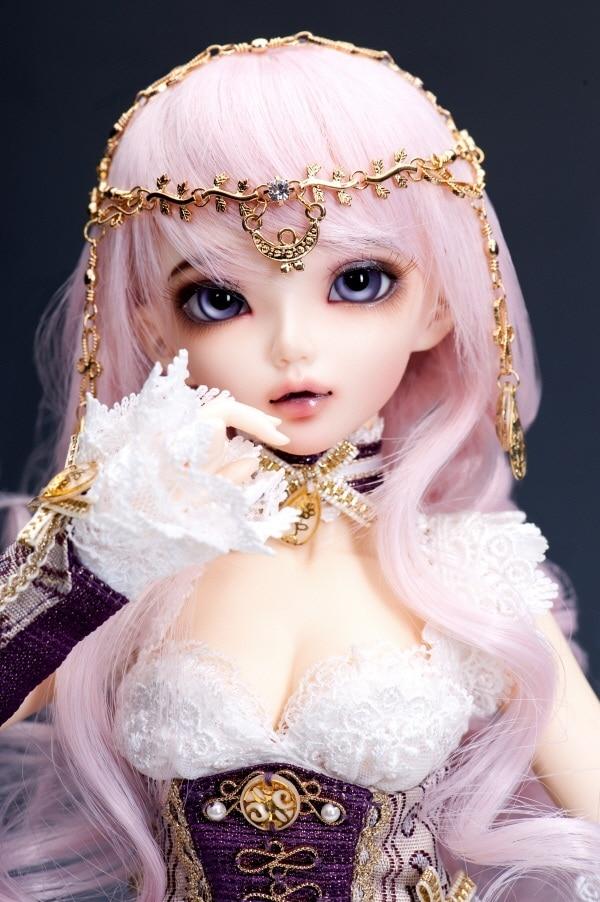 1/4 scale BJD lovely kid BJD/SD cute girl MiniFee Chloe Amethyst figure doll DIY Model Toys.Not included Clothes,shoes,wig 1 4 scale bjd lovely cute bjd sd human body kid serin