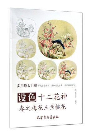 Drawing Painting Book About Twelve Flower God Spring Plum Blossom Magnolia Blossoms