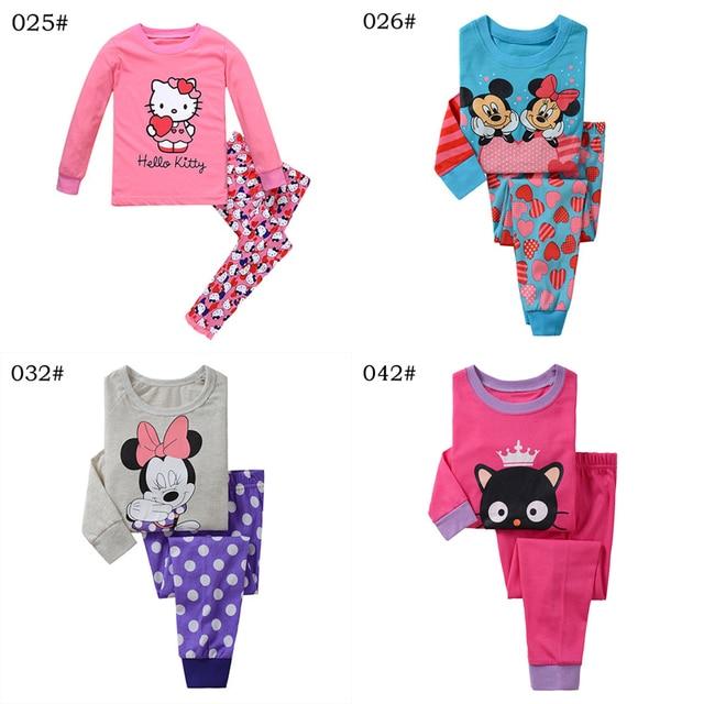 Мода Весна Принцесса Дети Пижамы Одежда Для Новорожденных Девочек Одежда С Длинным Рукавом Хлопок Пижамы PJS Детские Пижамы Pijamas Установить