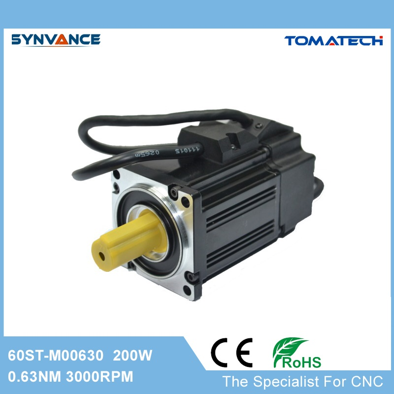 60mm flange 200W 3000rpm 0 637nm 60ST M00630 high cost effective AC servo motor for most