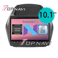 Topnavi 10.1 Octa Core Android 7.1 Car GPS Navigation for Hyundai ix35 2009 2015 Auto Stereo Multimedia Players Stereo with 3G