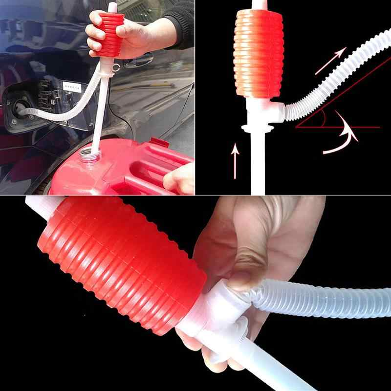 New Portable Manual Hand Siphon Syphon Oil Water Petrol Crude Oil Engine Fuel Liquid Transfer Pump Pipe