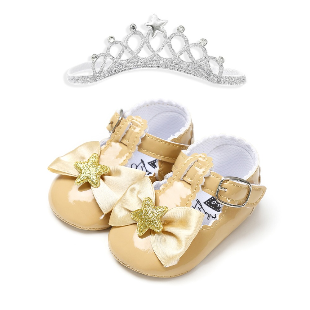 2020 New Style Headband Toddler Shoes Baby Girls Boys Shoes PU Soft Sole Moccasins Newborn Baby  First Walkers Shoes For Party