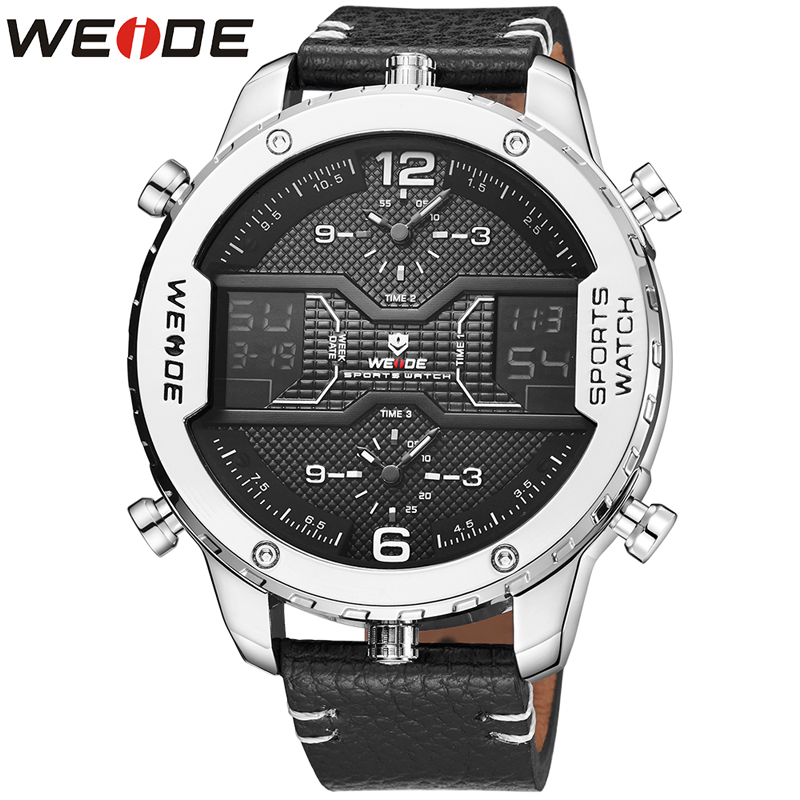 WEIDE Classic Brand Men Watches Genuine Luxury Brand New Watch Quartz Men Clock Outdoor Sport Watches Date Week Display Clock weide casual luxury genuin new watch men quartz digital date alarm waterproof clock relojes double display multiple time zone