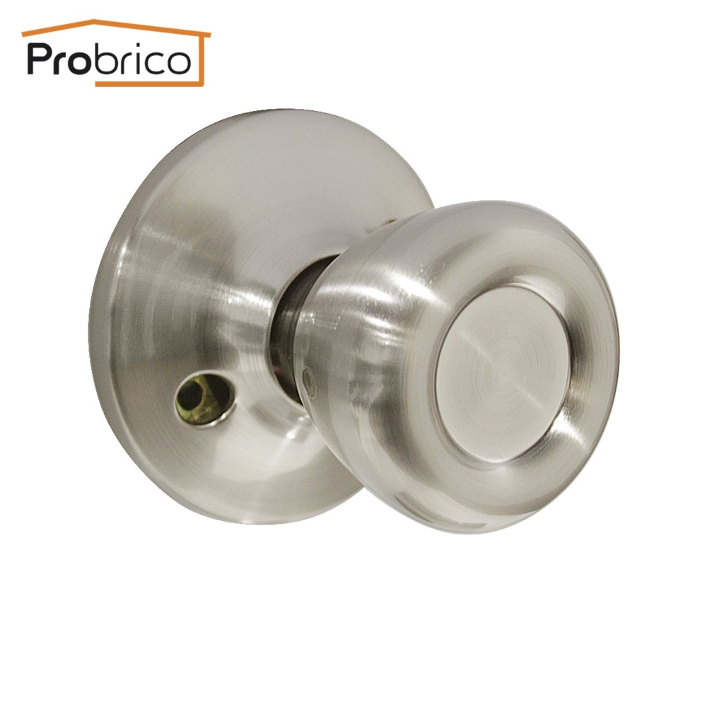 Probrico 1 pcs door knob stainless steel tulip style satin - Satin nickel interior door knobs ...