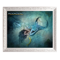 New 5d Diamond Embroidery Kits Cross Stitch Mermaid On The Sea Home Decor Diamond Painting Mosaic