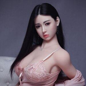 Image 1 - 168cm מין Dolts נדל סיליקון סקס בובות לגבר המציאותיות מאונן שד יפני בובת מין נרתיק