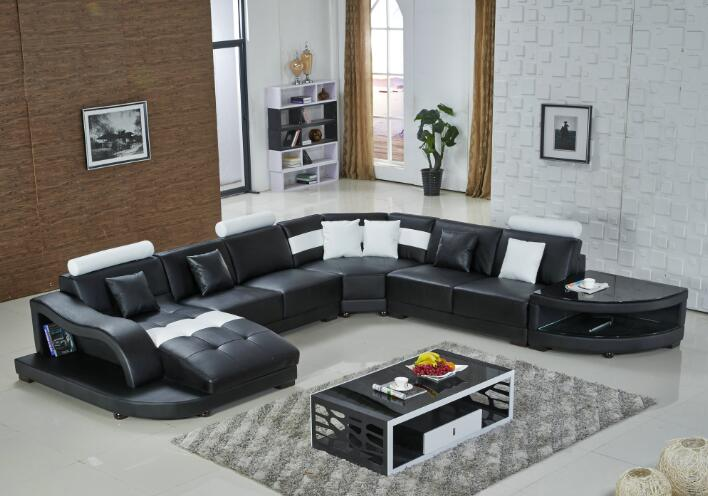 US $1398.0 |Sofas for living room with modern corner sofas with large  sectional sofa chaise-in Living Room Sofas from Furniture on AliExpress -  ...