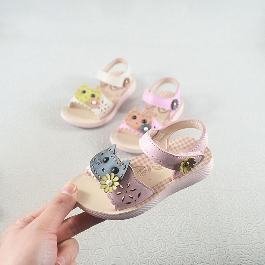 Slippers Shoes Baby-Girls Infant Princess Kids Cat Pink Cartoon Summer Casual Pearl Home-Pantuflas