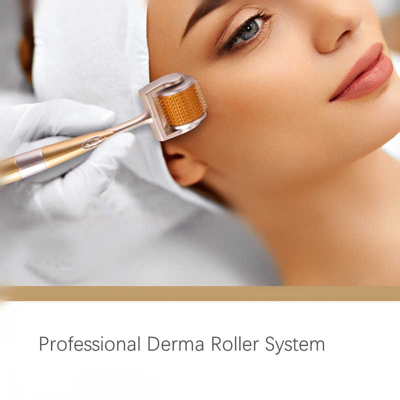DRS 196 Derma Roller 0.25mm ไทเทเนี่ยม Microneedle Roller สำหรับใบหน้า Microdermabrasion Facial Roller Microneedling Dermaroller