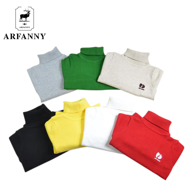 ARFANNY Fall and winter baby sweater. The girl playing high-necked sweater. High-quality soft infant clothing. baby boy clothes