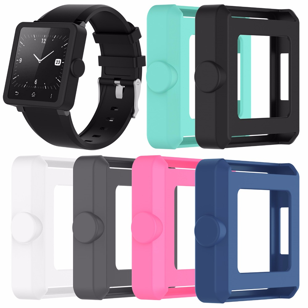 XBERSTAR Watch Case Protector Cover for Sony SmartWatch2 SW2 Genuine Silicone Protective Shell Housing Case стоимость