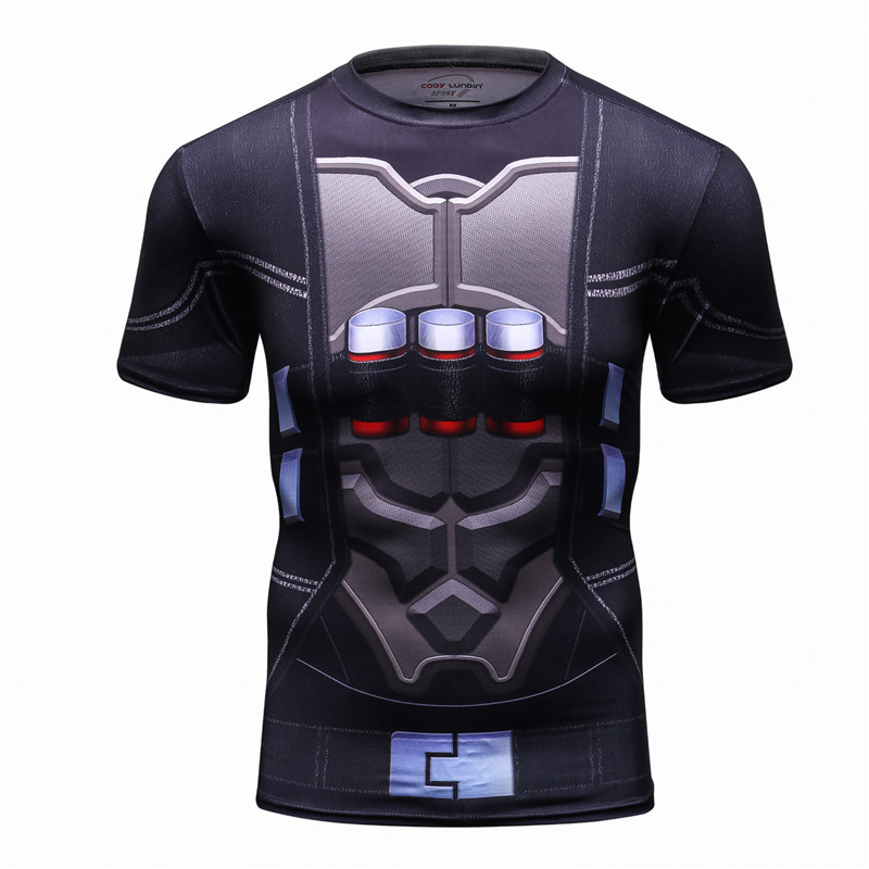 2018 3D Printed High-Quality Short sleeve Men's T-shirt Workout Fitness Punk Style MMA T shirt Men Camisetas Funny Tshirt