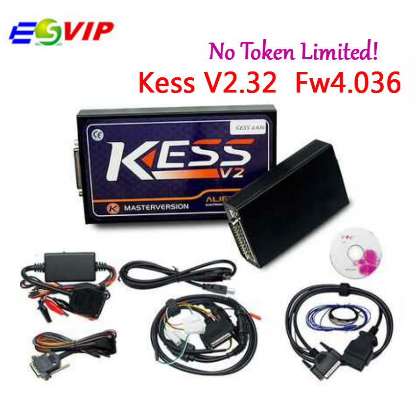 HW V4.036 KESS V2 V2.32 V2.30 OBD2 Manager Tuning Kit kess v2 v4.036 Master Version No Tokens Limited ECU Chip Tuning Tool