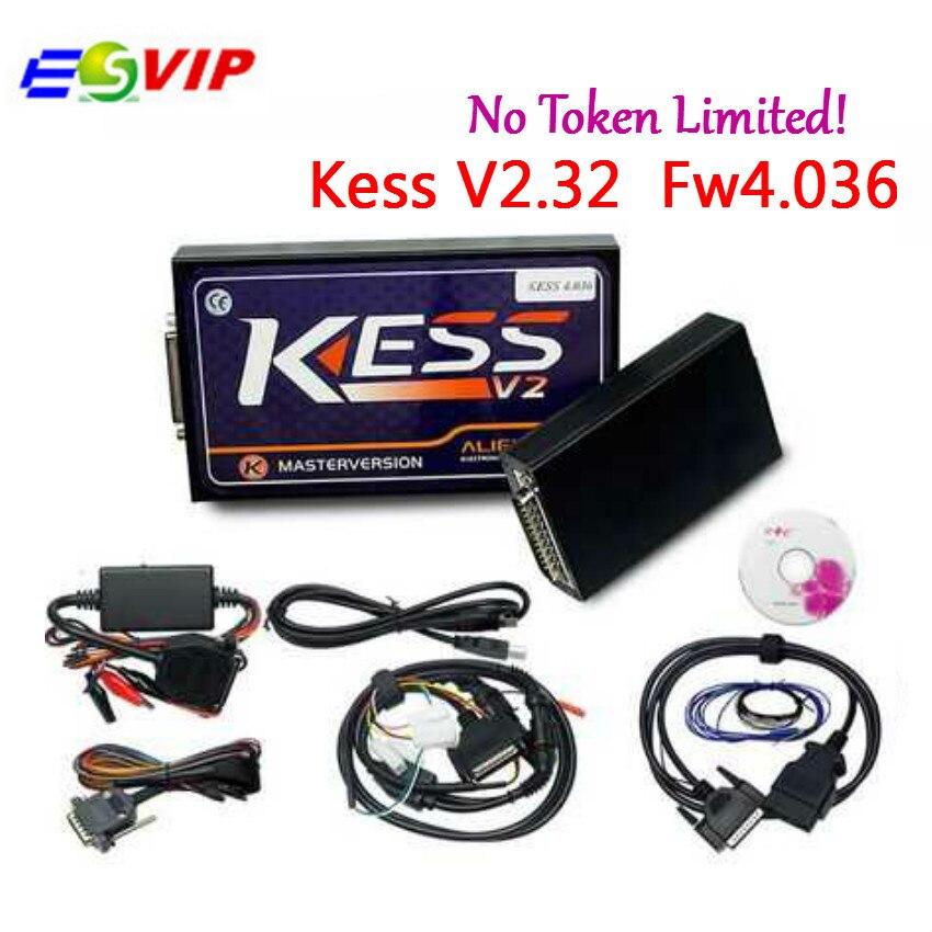 HW V4.036 KESS V2 V2.32 V2.30 OBD2 Manager Tuning Kit kess v2 v4.036 Master Version No Tokens Limited ECU Chip Tuning Tool