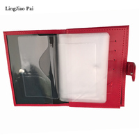 LingJiao Pai Russian Auto Driver License Bag PU Leather On Cover For Car Driving Document Card