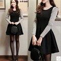 long sleeve big girls teenagers Korean clothes autumn dresses 2016 kids dresses children 10 years clothing designer AA1908