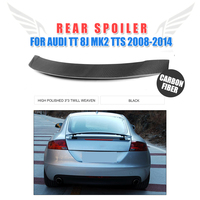 Carbon Fibre Rear Spoiler Trunk Boot Wing for AUDI TT 8J MK2 TTS Coupe Convertible 2 Door 2008 2014 Car Tuning Parts