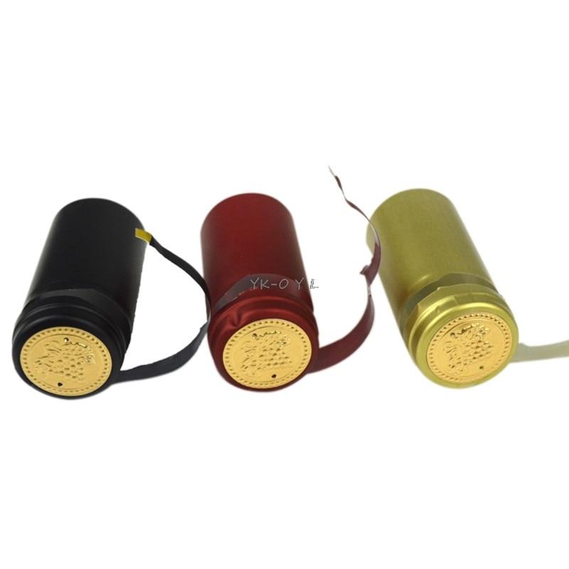 10Pcs Wine Bottle Heat Shrink Capsules Homebrew Top Cap Loose Line Peeling Easy