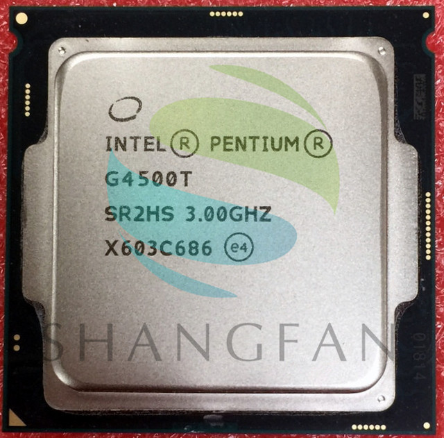 intel  Pentium G4500T SR2HS  CPU Processor 3GHz 35W LGA1151 Desktop CPU Desktop scrattered