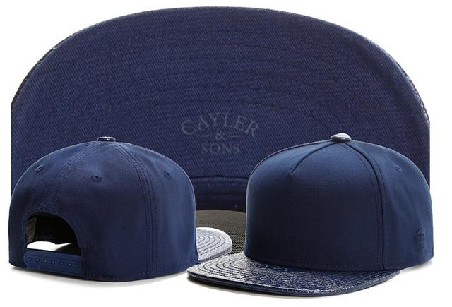 New summer mens no logo baseball cap brand cayler sons solid blue snapback  blank hats for 9882f8679d5