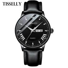Mens Waterproof Watches Leather Strap Date Quartz Casual Business Mens Wrist Watch Top Brand Tisselly Male Clock 2019 Fashion